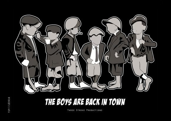 The Boys are back in Town free posters