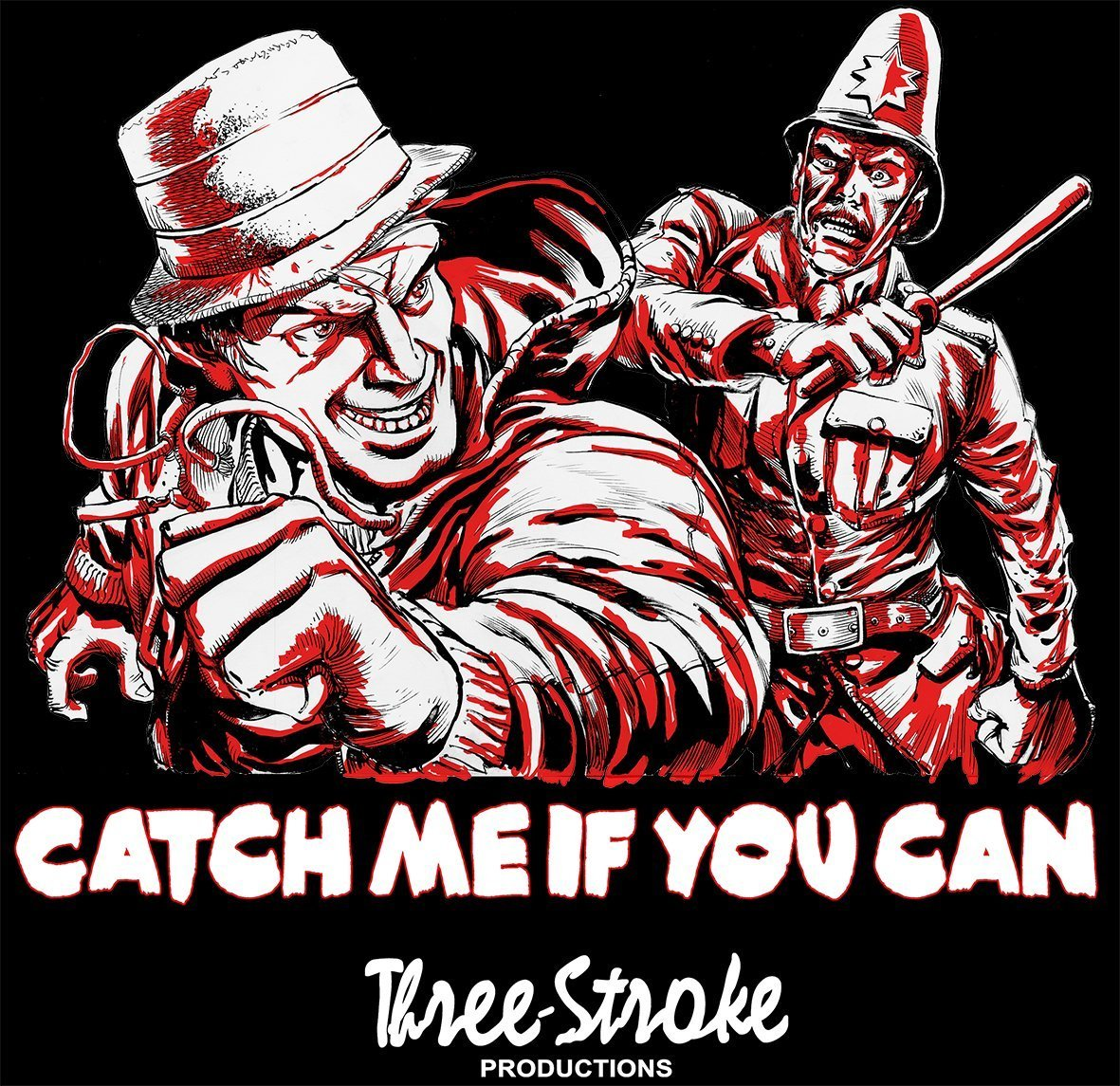 catch me if you can t shirt three stroke productions