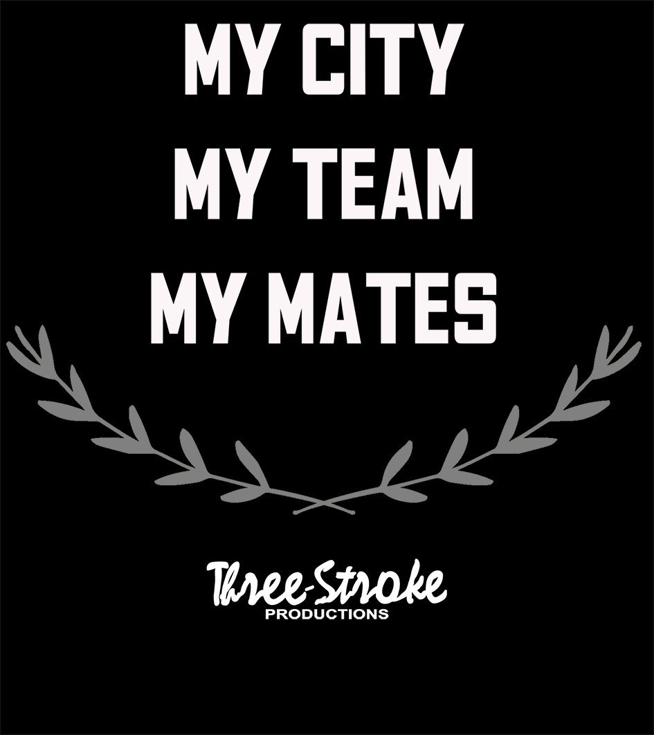 my City My Team My Mates laurel t shirt by Three Stroke Productions