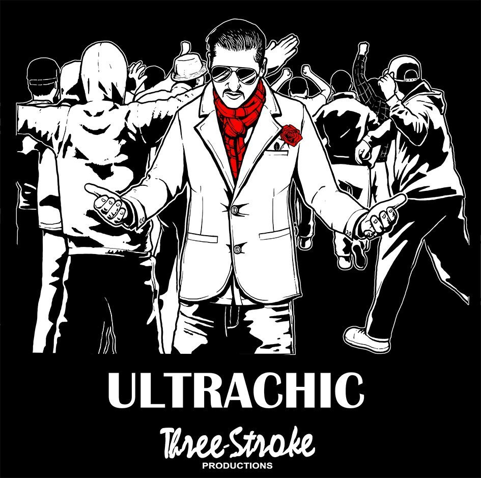 ultrachic t shirt by three stroke productions
