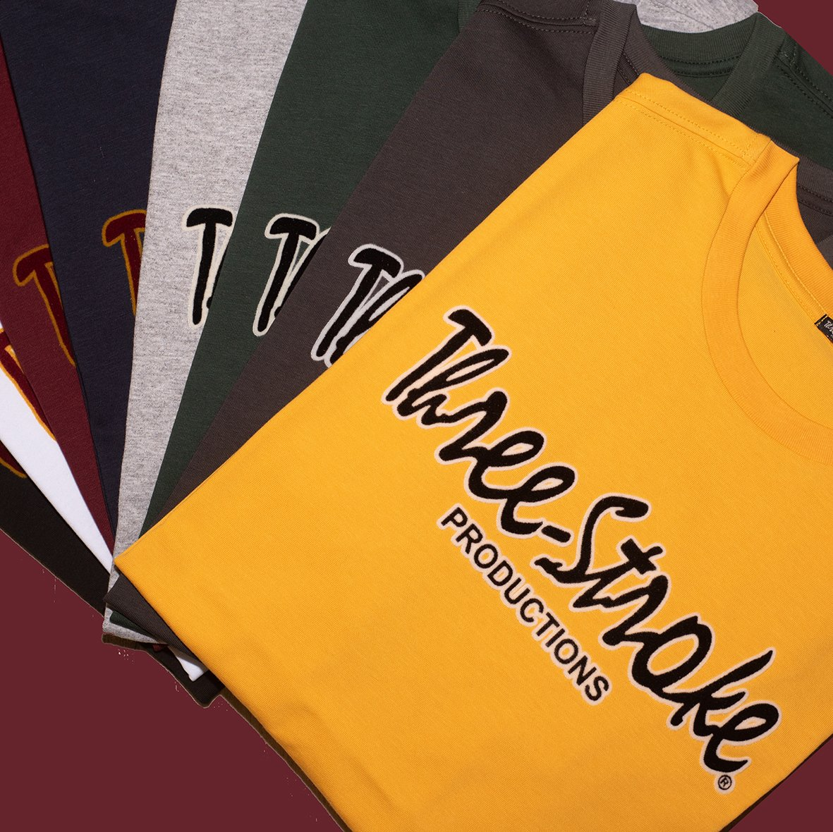 classic t shirts by three stroke productions