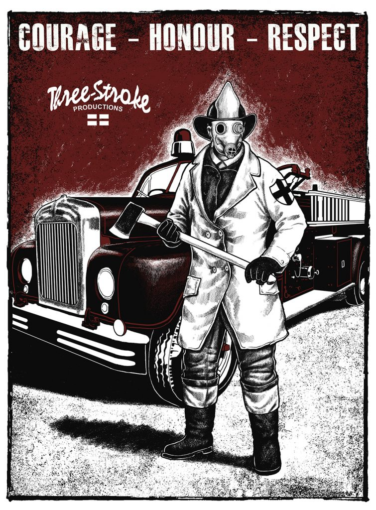 Firefighters free posters by Three Stroke Productions