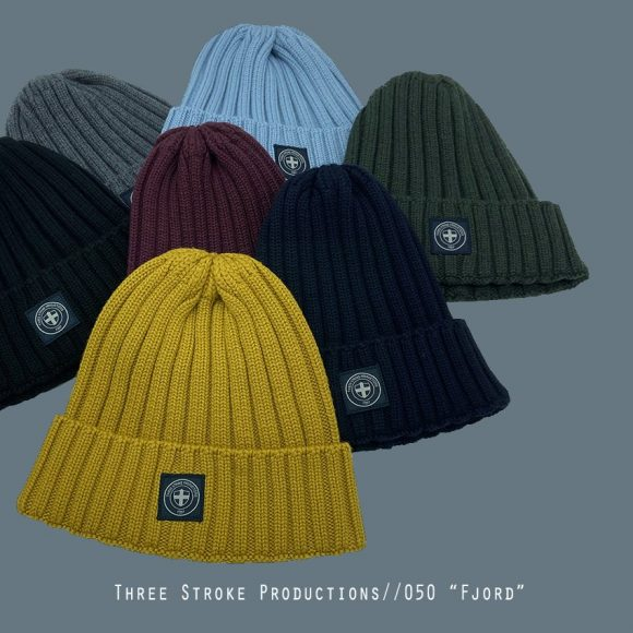 Fjord beanie hats by Three Stroke Productions