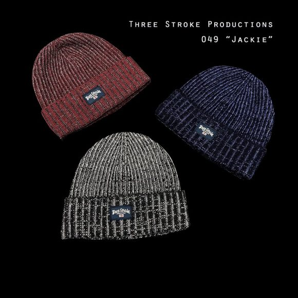 Jackie beanie hats by Three Stroke Productions