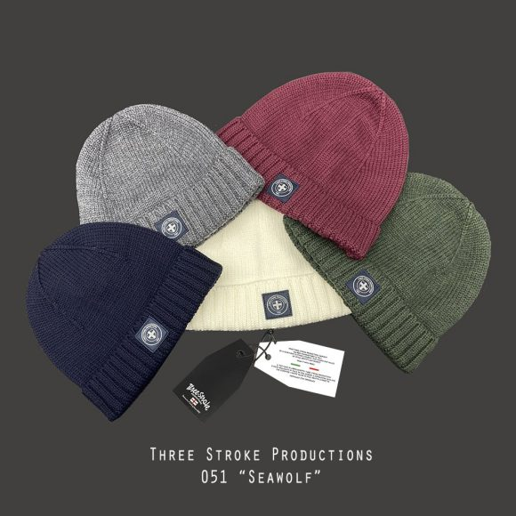 Seawolf beanie hats by Three Stroke Productions