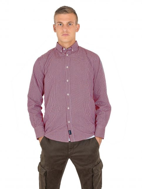 red Classic Shirt by Three Stroke Productions