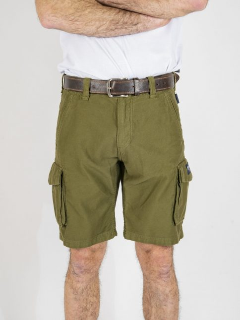 army green combat shorts by three-stroke production