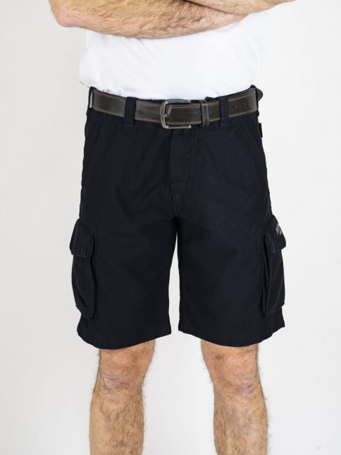 black combat shorts by three-stroke production