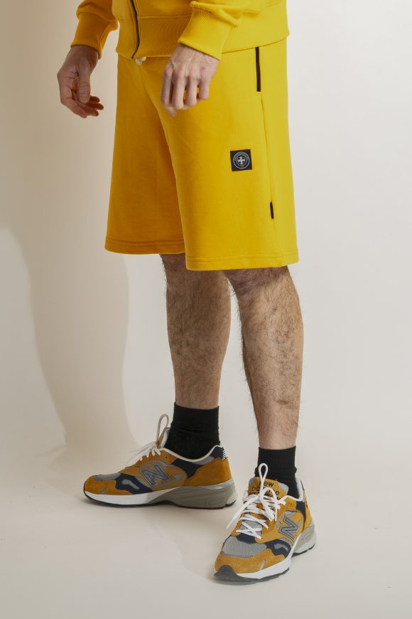 gold primo shorts shirt by three-stroke production