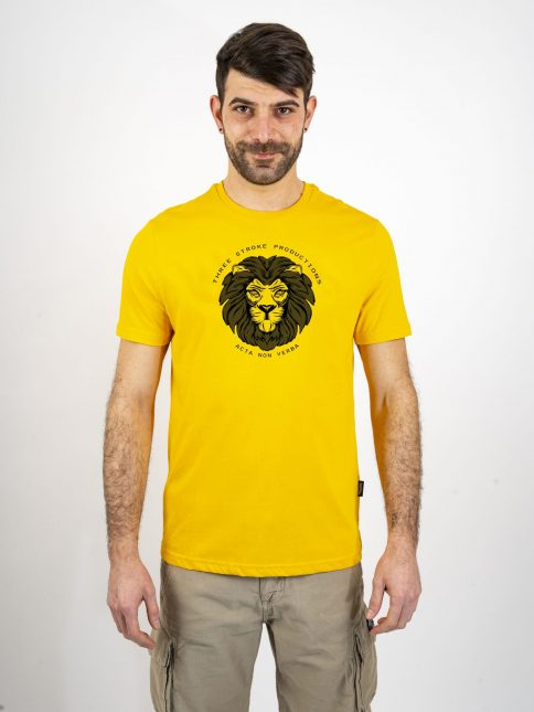 gold acta t shirt by three-stroke production