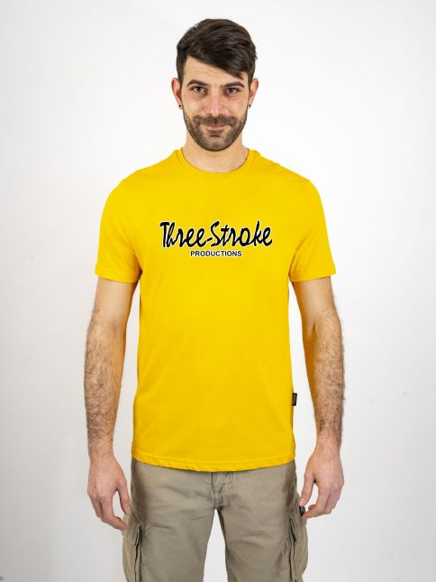 gold classic t shirt by three-stroke production