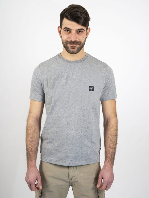grey marl minimum t shirt by three-stroke production