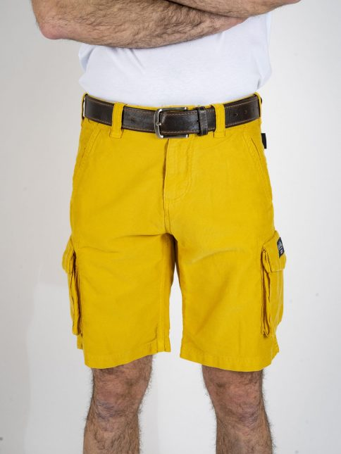 mustard combat shorts by three-stroke production