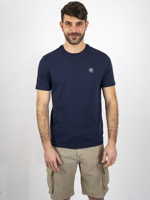 navy minimum t shirt by three-stroke production