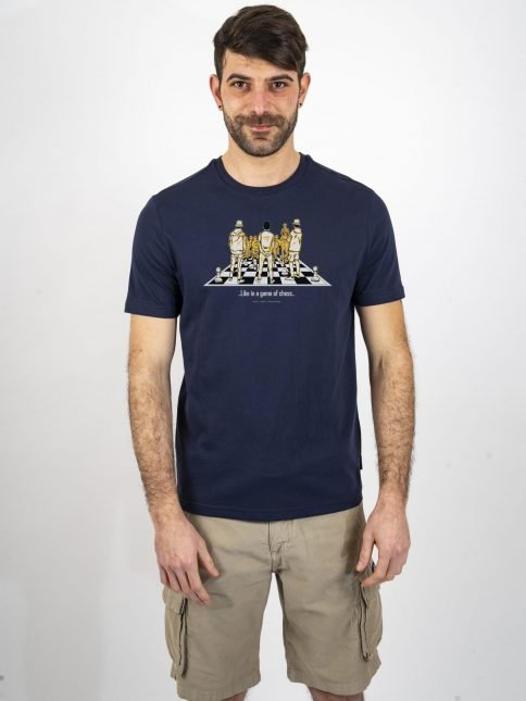 navy game of chess t shirt three stroke productions