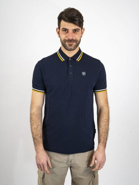 navy the classic polo shirt by three-stroke production