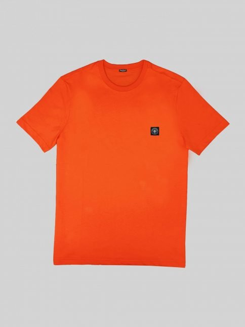 orange minimum t shirt by three-stroke production