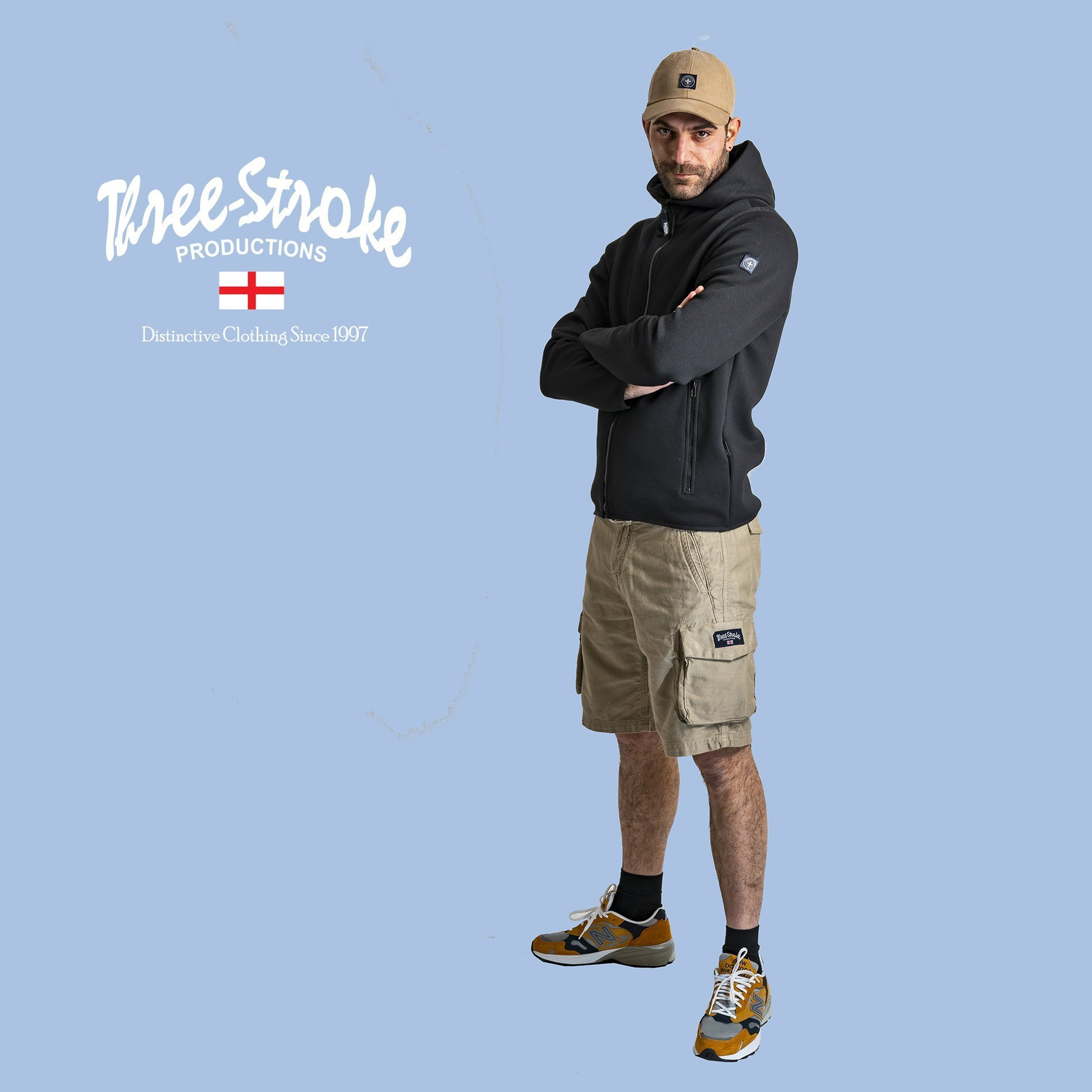 victor baseball cap uniform jacket and combat shorts by Three Stroke Productions