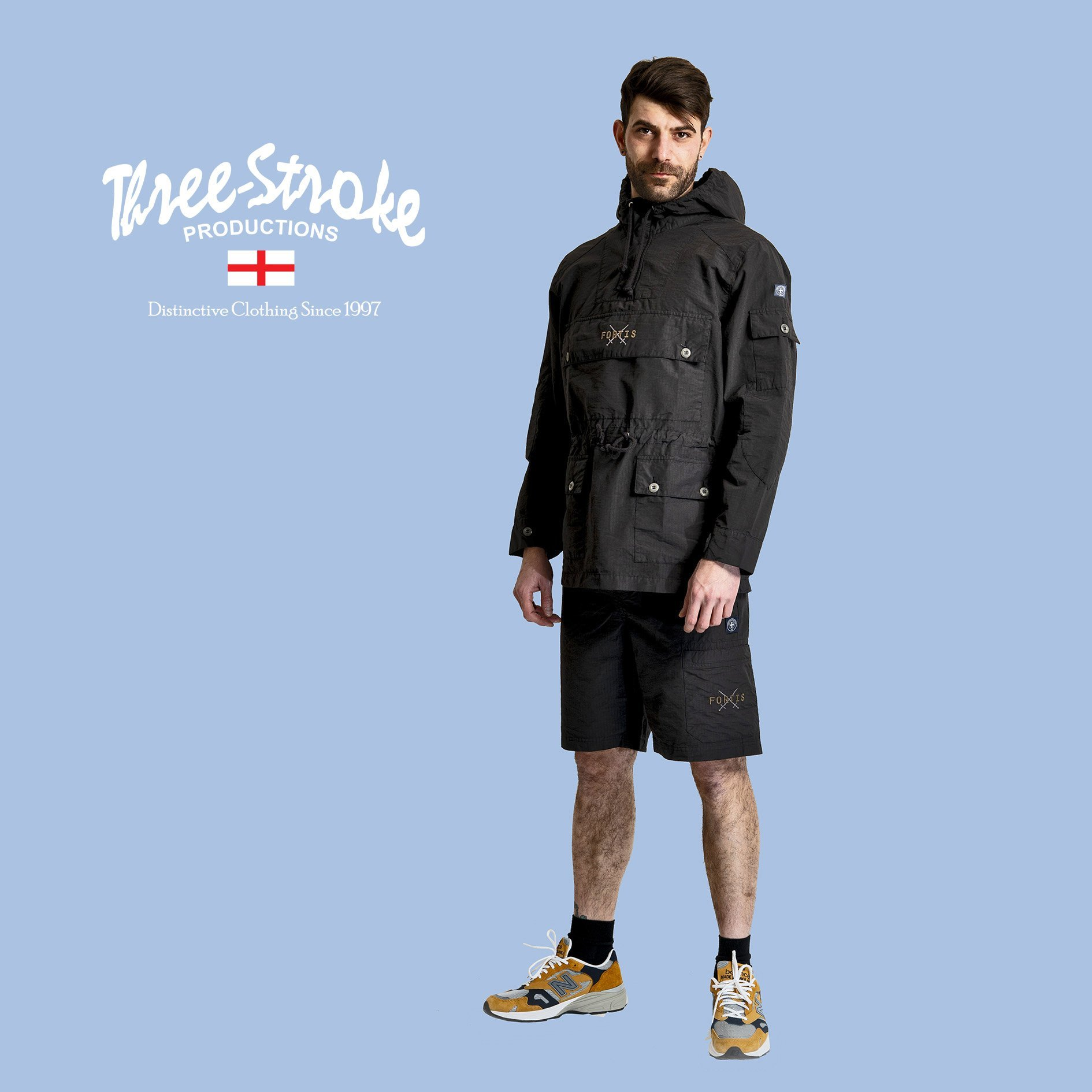armor jacket and explorer ripstop shorts by Fortis London