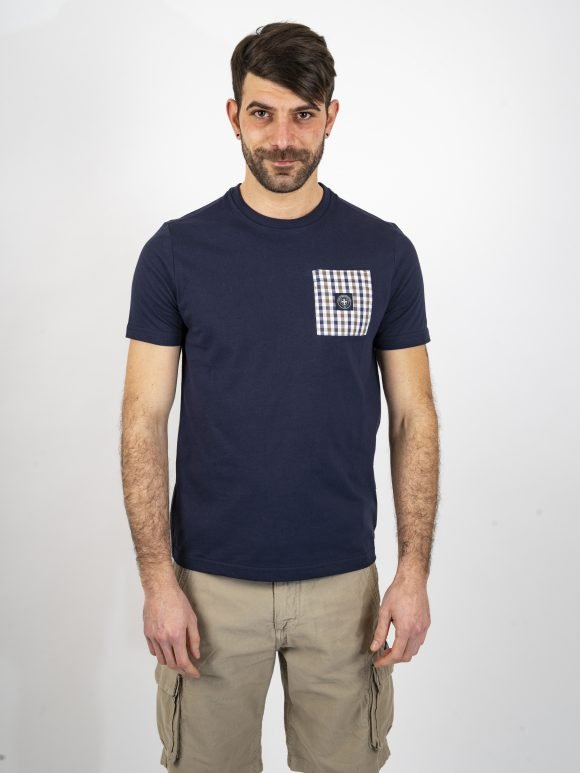 navy emery t shirt three stroke productions