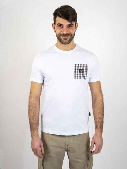 white emery t shirt by three-stroke production