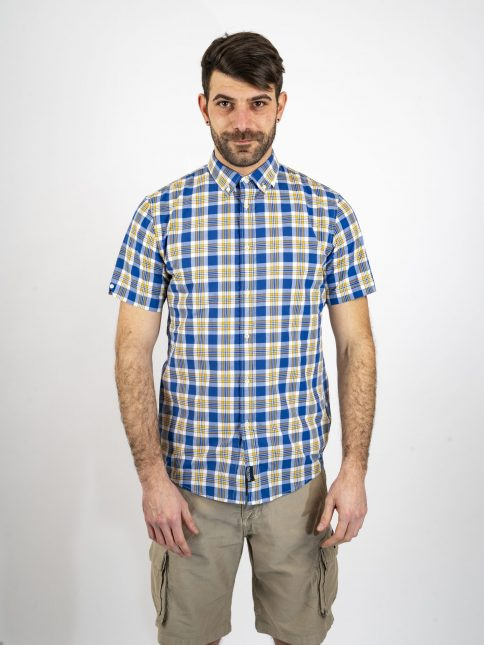 yellow/navy quentin shirt three stroke productions